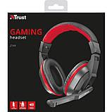 Навушники Trust Ziva Gaming Headset Black-Red, фото 2