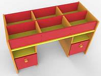 Игровой Стол для детского сада для игр и занятий с конструктором, с ящиками для игрушек и пособий 100x600x46см