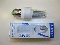 Led лампочки 3W 27E