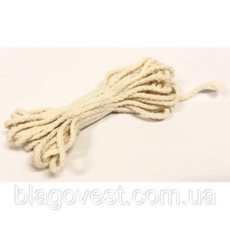Фитиль плетенный хлопок,толщина 2,5мм. (моток 5-метров)
