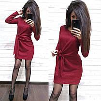 Платье свободное с необычным поясом из ангоры с люрексом, фото 2