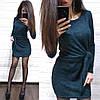 Платье свободное с необычным поясом из ангоры с люрексом, фото 5