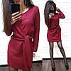 Платье свободное с необычным поясом из ангоры с люрексом, фото 4