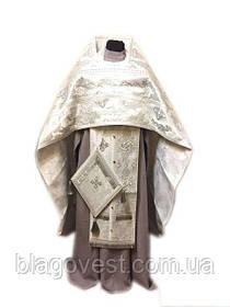 Облачение иерейское 2 метанить Белый (56:155)(54:150)((52:150)