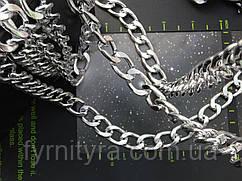 Цепь декоративная 2,3х1,5см серебро Италия К-3,8мм