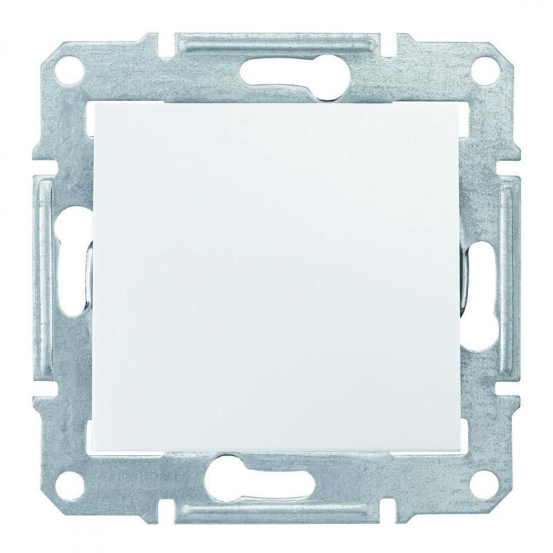 Одноклавишный перекрестный переключатель Белый Sedna SDN0500121