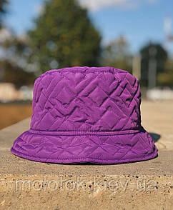 Зимова панамка однотонна фіолетова