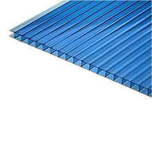 Сотовый поликарбонат Polygal 6 мм голубой 2,1х6 м