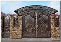 Кованые ворота для дач под заказ