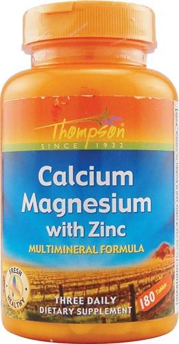 Thompson Calcium Magnesium with Zinc Кальций, магний, цинк  1000/400/15 мг  в дневной дозе180 табл на 60 дней