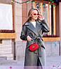 Кашемировое пальто ниже колена рукав реглан, фото 4