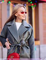 Кашемировое пальто ниже колена рукав реглан, фото 3