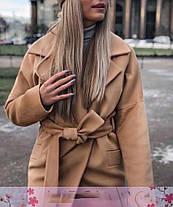 Кашемировое пальто ниже колена рукав реглан, фото 2