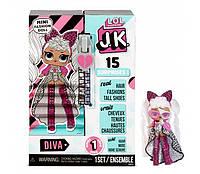 Міні Лялька ЛОЛ сюрприз LOL Surprise! JK Diva Mini Fashion Doll з 15 сюрпризами 570752, фото 1