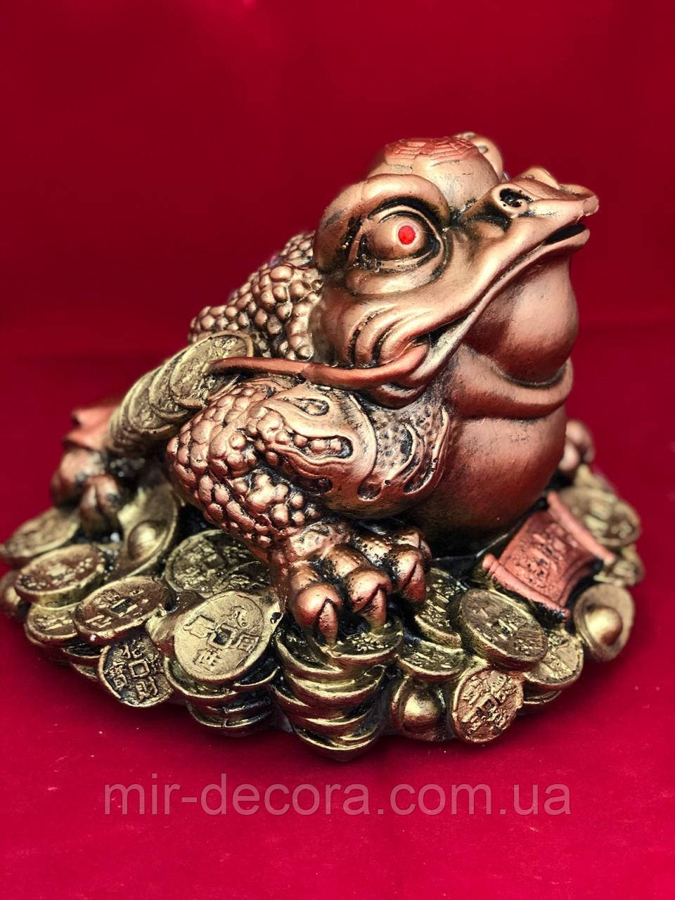 Статуэтка копилка Жаба богатства, 20 на 25 см