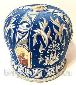 Мітра вишита, каміння Сваровскі р. 59,5 (синій)