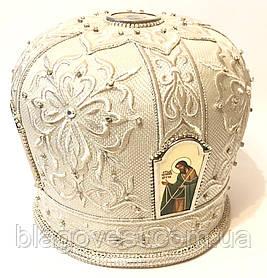 Мітра вишита, каміння Сваровскі р. 60 (білий)
