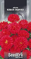 Семена красной кустовой астры Классик Скарлет 0.25 г, SeedEra, Сортотип низкорослых астр. Семена цветов почтой