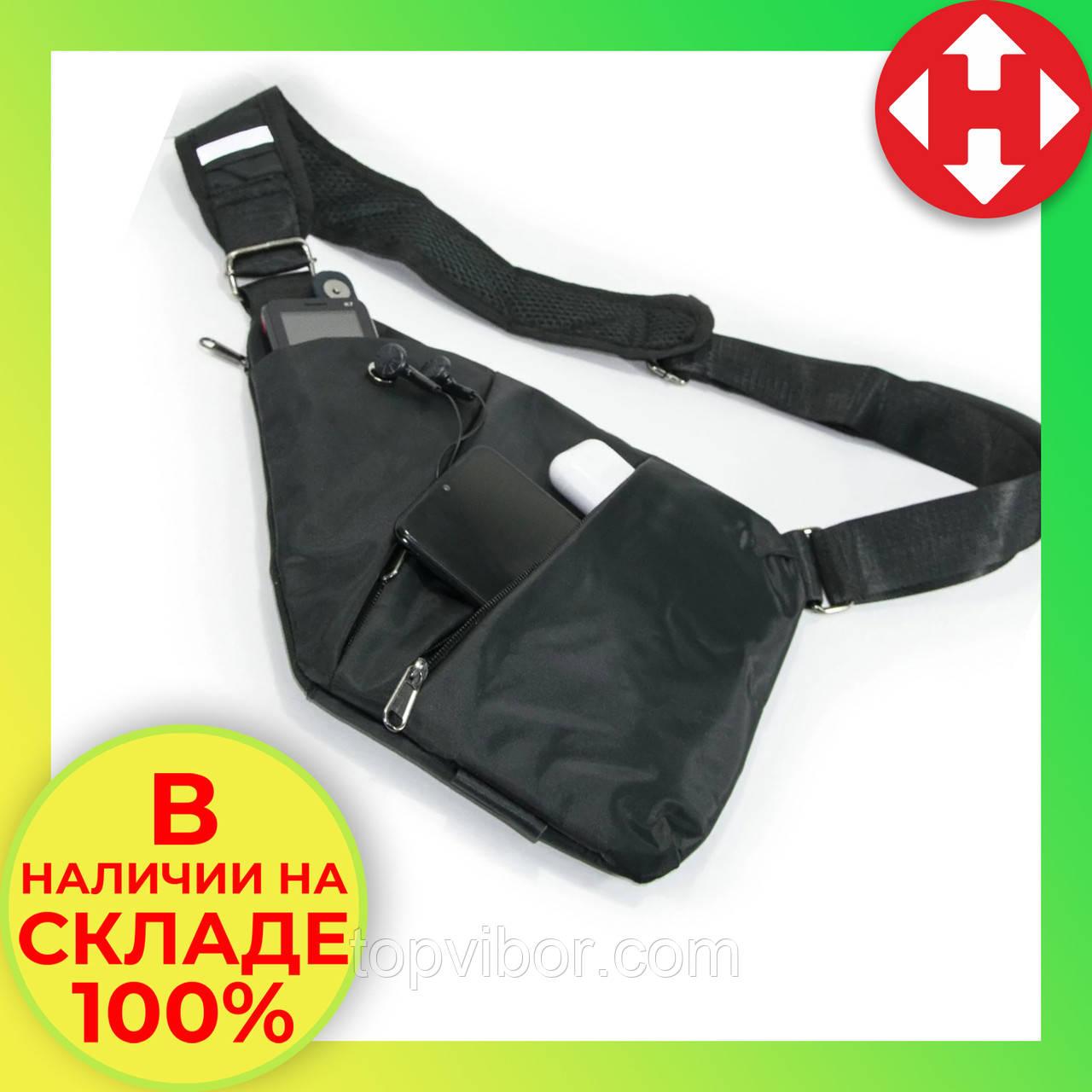 Сумка через плечо, кроссбоди, crossbody, сумка слинг, Черная. Это качественная, кросс боди сумка