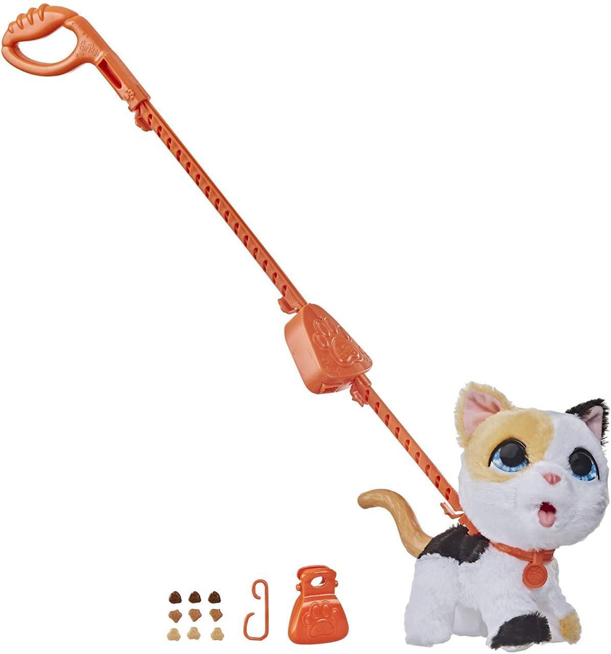 Интерактивный шаловливый Фуриал Котенок на поводке Большой питомец Furreal Friends Poopalots Big Wags Kitty