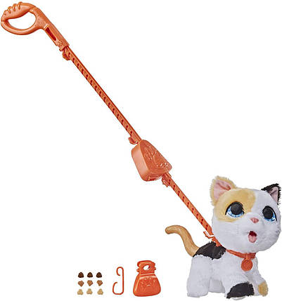 Интерактивный шаловливый Фуриал Котенок на поводке Большой питомец Furreal Friends Poopalots Big Wags Kitty, фото 2