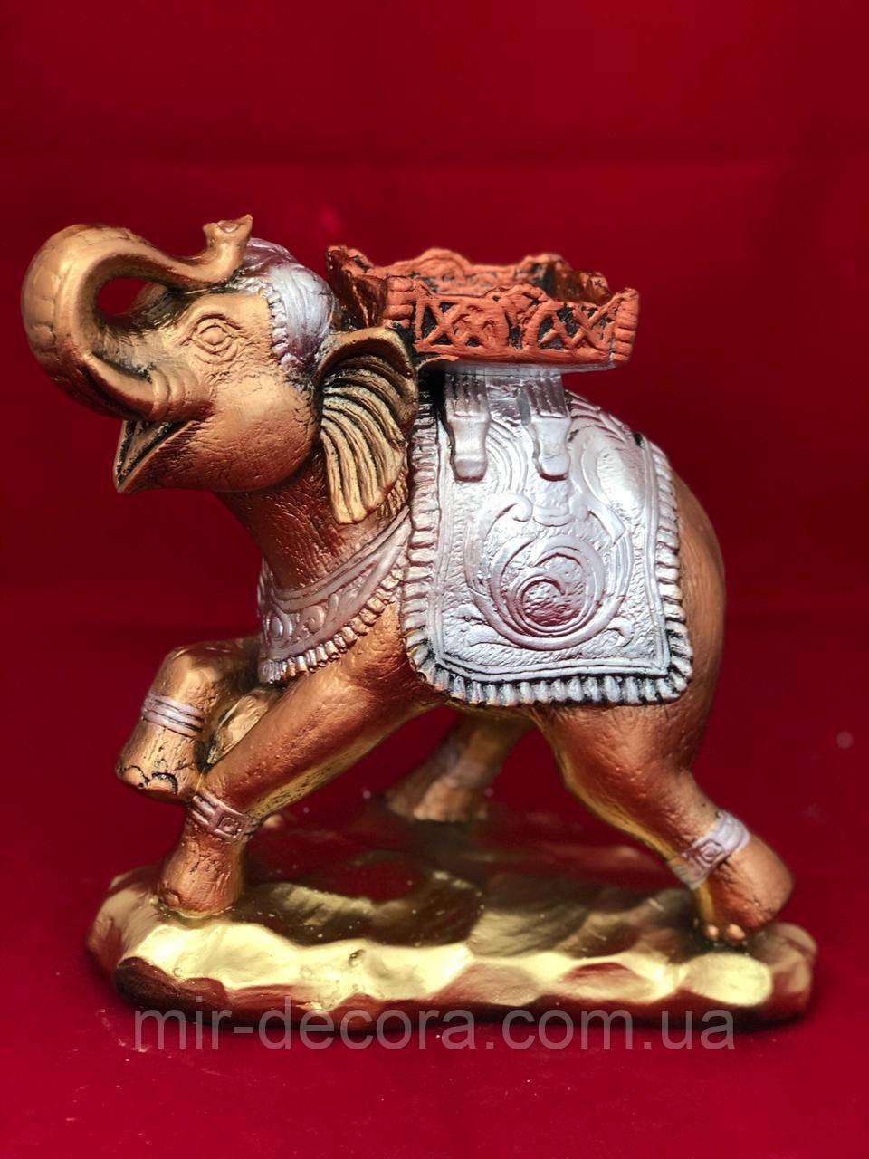 Статуэтка интерьерная копилка Слон с седлом, 24 на 28 см