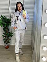 Женский турецкий утепленный  спортивный костюм, серый, фото 1
