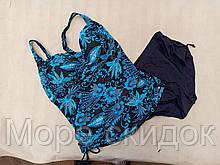 1Танкини с шортами 68811 FUBA Рада голубой (в наличии  54 56 58 размеры)