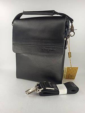 Мужская кожаная сумка планшет через плечо Langsa B3385-1
