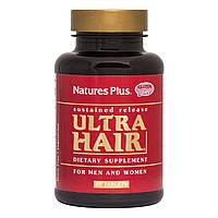 Комплекс для Роста Оздоровления Волос для Мужчин и Женщин, Ultra Hair Sustained Release, Natures Plus, 60
