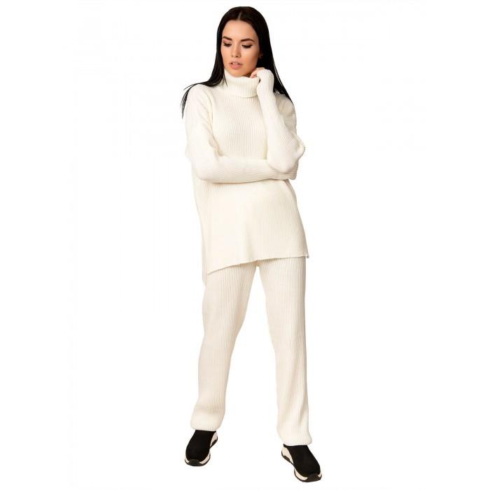 Вязаный костюм с митенками оверсайз 42-46 размер