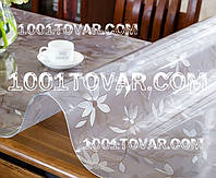 Скатерть (клеёнка) для стола Мягкое стекло с лазерным рифлёным рисунком 90х100 см, плотность 1,7 мм. на МЕТРАЖ