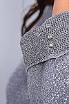 Женский свитер батал, тонкая машинная вязка, р-р универсальный 48-52 (серый), фото 6