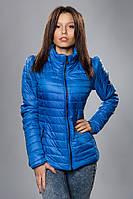 Женская демисезонная куртка. Код модели К-59-12-15. Цвет темно голубой.