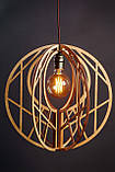 Люстра дерев'яна СОНЦЕ by smartwood | Люстра лофт | Дизайнерський світильник, фото 5