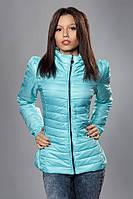 Женская демисезонная куртка. Код модели К-59-12-15. Цвет светло голубой.