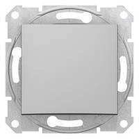 Одноклавишный перекрестный переключатель Алюминий Sedna SDN0500160