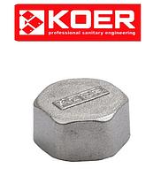 """Заглушка 1"""" ВР KOER KF.P08F (Чехия)"""