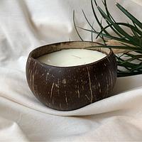 Свечи из натуральных восков Банан в кокосе Coconut Home ароматические декоративные