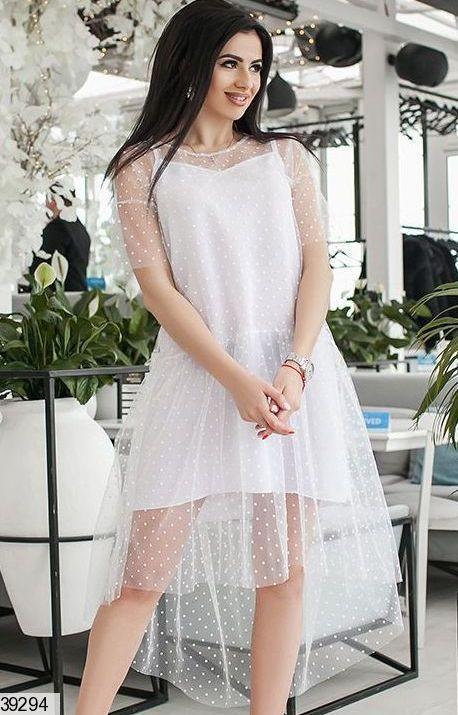 Платье двойка 39294 универсальный 42-46