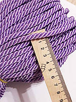 Шнур декоративный текстильный витой Шнур  декоративний 6-7 мм. Бузковий. Туреччина