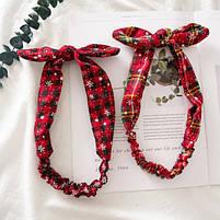Рождественская резинка бант для волос 1 шт., фото 2