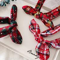 Рождественская резинка бант для волос 1 шт., фото 3