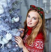 Рождественская резинка бант для волос 1 шт., фото 4