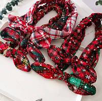 Рождественская резинка бант для волос 1 шт., фото 5