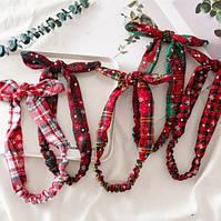 Рождественская резинка бант для волос 1 шт., фото 6