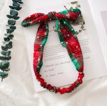 Рождественская резинка бант для волос 1 шт.