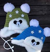 Детская шапка с мехом  Dizzy market
