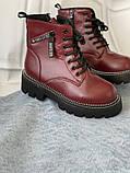 Яскраві вишневі зимові черевики, фото 2