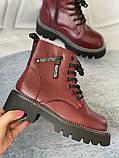Яскраві вишневі зимові черевики, фото 4